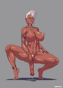 lusty busty futanari mistress